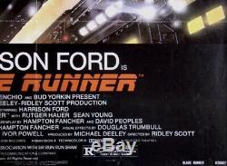 1982 BLADE RUNNER 27x41 ONE SHEET FULL NSS THEATRE VERSION
