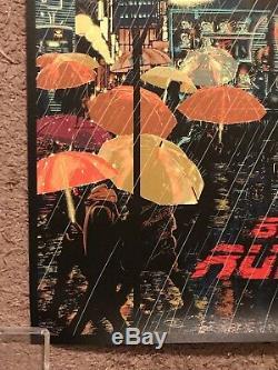 1982 Blade Runner Harrison Ford Movie Print Poster Mondo RAID71 Chris Thornley