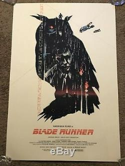 1982 Blade Runner Movie Art Print Poster Mondo Harrison Ford Lyndon Willoughby