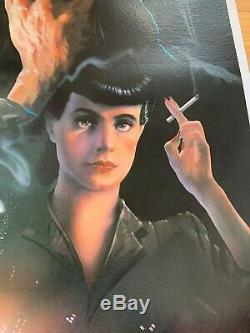 1982 Blade Runner Original One Sheet SCI FI Movie Poster Linen Backed STUNNING