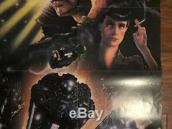 1982 Blade Runner Unused 27 By 41 Theater Poster Rare