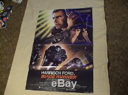 1982 Blade Runner movie poster, folded