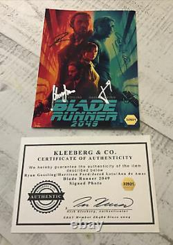 Autograph Blade Runner 2049 6x8 1/2 Great Item 4 Signatures COA