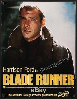 BLADE RUNNER 1982 22x17 College preview style Harrison Ford Ridley Scott