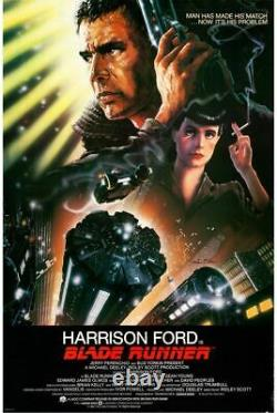 BLADE RUNNER (1982) 27997 Movie Poster 27x41 Signed by the Artists John Alvin