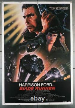 BLADE RUNNER (1982) 29127 Movie Poster Linen-Backed Harrison Ford Art by Joh