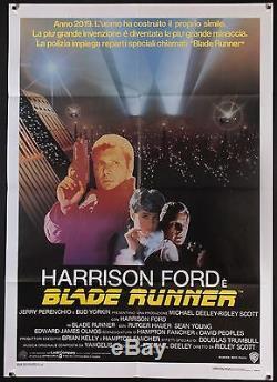 BLADE RUNNER 1982 Italian 39 x 55 Harrison Ford Ridley Scott Exc. Condition