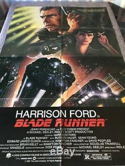 BLADE RUNNER 1982 ORIGINAL 1 SHEET MOVIE POSTER 27x41 (F/VF) HARRISON FORD