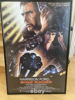 BLADE RUNNER 1982 ORIGINAL MOVIE POSTER STAR WARS HARRISON FORD In Framing Case