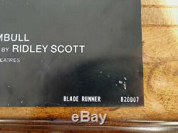 BLADE RUNNER 1982 Original Movie Poster 27 x 41 NSS Version Art by John Alvin