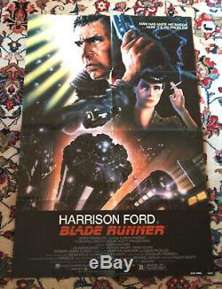 BLADE RUNNER 1982 Original Movie Poster 27 x 41 NSS Version Artist John Alvin
