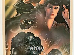 BLADE RUNNER 1982 Original Rolled 14x36 Movie Poster Harrison Ford Ridley Scott