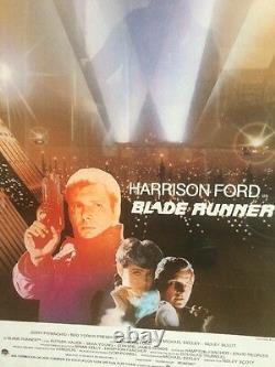 BLADE RUNNER 1982, Spain Version, ORIGINAL MOVIE POSTER, In Frame, Rare, L@@K