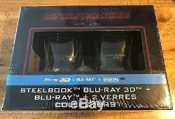 BLADE RUNNER 2049 (Blu Ray/3D) Mondo STEELBOOK Whiskey Glasses Import Box Set