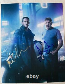 BLADE RUNNER 2049 photo cast signed by RYAN GOSLING & HARRISON FORD auto withCOA