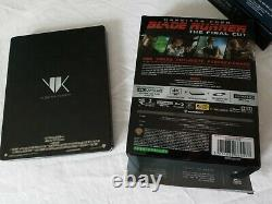BLADE RUNNER 4K UHD Blu-Ray Titans Of Cult STEELBOOK Enamel Pin Coasters Import