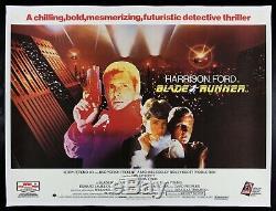 BLADE RUNNER CineMasterpieces 1982 UK BRITISH QUAD LINEN BACKED MOVIE POSTER