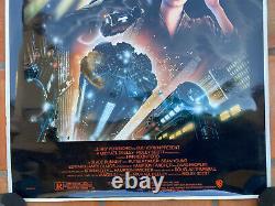 BLADE RUNNER DIRECTOR'S CUT R1992 Original OS 27x41 Movie Poster HARRISON FORD