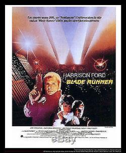 BLADE RUNNER Harrison Ford 4x6 ft French Grande Movie Poster Original 1982