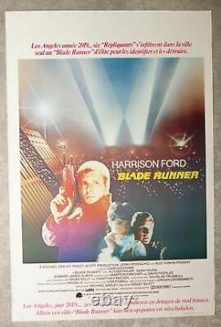 BLADE RUNNER Harrison Ford sci-fi original belgian movie poster'82