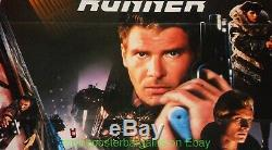 BLADE RUNNER MOVIE POSTER Very Fine Folded 23x33 GERMAN A1 Size HARRISON FORD