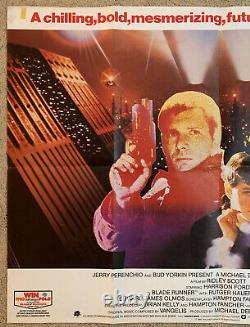 BLADE RUNNER Original British Quad Movie Poster Ridley Scott Harrison Ford Hauer