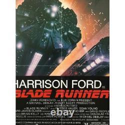 BLADE RUNNER Original Linenbacked Movie Poster RARE Studio Style 27x41 in. 1