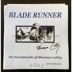 BLADE RUNNER Storyboard complet! 25 ex. Au monde! Avec COA, Labby