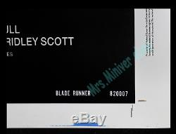 BLADE RUNNER WHITE BORDER PRINTER'S PROOF Movie Poster 1-OF-A-KIND NSS VERSION