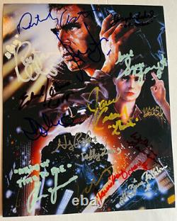 BLADE RUNNER photo cast signed by 13 Harrison Ford Rutger Hauer Sean Young AUTO