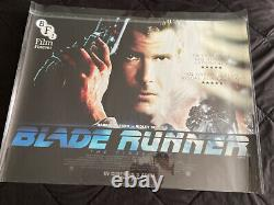 Blade Runner 1982 BFI Library Rare Original Movie Poster 30x40 UK Quad