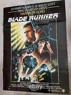 Blade Runner 1982 Harrison Ford original poster france huge Ridley Scott