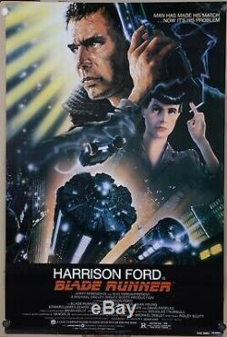 Blade Runner 1982 Original Movie Poster One Sheet Rolled Near Mint