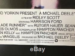 Blade Runner (1982) Original/Vintage Movie Poster on 40 x 30-British Quad NM