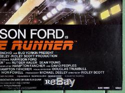 Blade Runner 1982Original US One Sheet Movie Poster 27x41ScottHarrison Ford