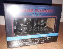 Blade Runner 2049 3d + 2d Blu-ray Mondo Steelbook Limited Edition Whisky Glasses