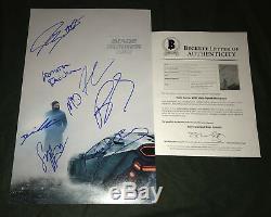 Blade Runner 2049 signed poster X8 Ryan Gosling Ana De Armas Robin Wright BAS