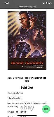 Blade Runner 3D Lenticular Poster Plex BNG Mondo