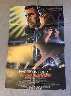Blade Runner Bladerunner Harrison Ford Ridley Scott 1982 1sheet Near Mint Rolled