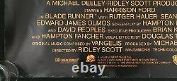 Blade Runner Directors Cut Original Quad Movie Poster Ridley Scott Harrison Ford