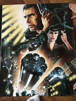 Blade Runner Film Poster. Original 1992 Directors Cut UK Movie Quad-Rolled RARE