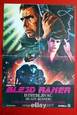 Blade Runner Harrison Ford 1982 Rutger Hauer Ridley Scott Sci-fi Yu Movie Poster