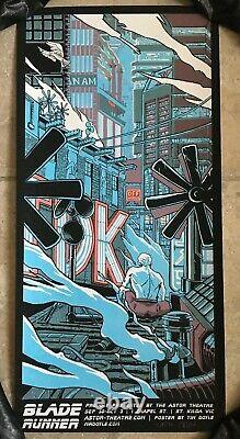 Blade Runner Movie Poster Art Tears in the Rain Roy Batty Tim Doyle sdcc mondo