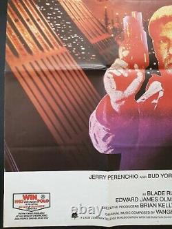 Blade Runner Original Movie Poster 1982 British Quad Harrison Ford Vnc