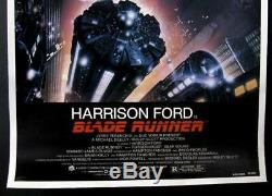 Blade Runner Original Movie Poster 1982 Linen Backed One Sheet Nss# 820007