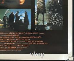 Blade Runner Original One Sheet Movie Poster Harrison Ford Ridley Scott 1982
