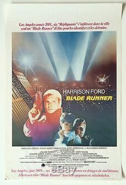 Blade Runner Poster Harrison Ford 1982 French Francais Belgium Brussels RARE
