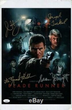 Blade Runner Signed Autographed 11X17 Photo Walsh Young Olmos JSA II60756