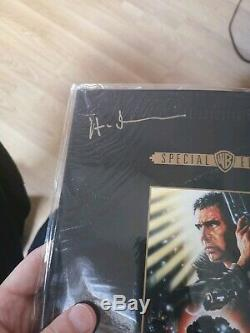 Blade Runner Special Edition DVD Boxset Signed Screenplay, Poster, Senitype