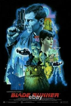 Blade Runner by Paul Mann Screen Printed Movie poster Not Mondo, Bottleneck